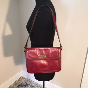 Vintage Etienne Aigner Leather Purse in Deep Red